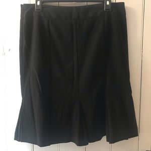 Pinstripe Pencil Skirt